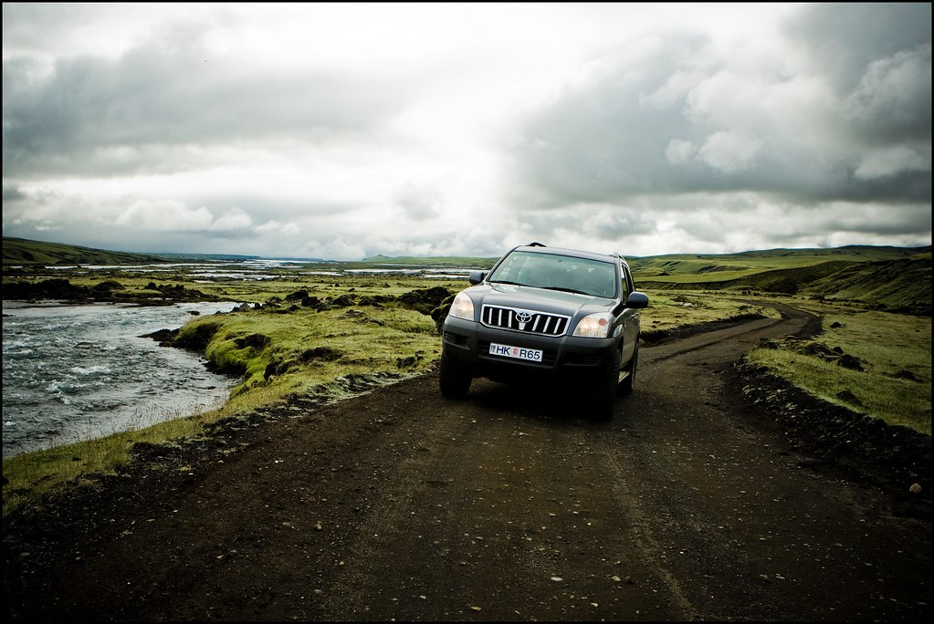 Rent a car in Iceland. Self driving a Toyota Lancruiser offroad Iceland.